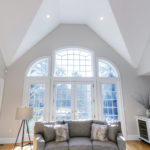 Interior Painting - Living Room with Cathedral Ceilings