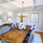 Interior Painting - Dining Room with Coffered Ceiling