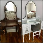 Antique Vanity Before and After