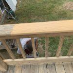 Decking Stain in Progress